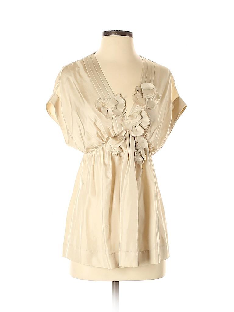 Robert Rodriguez Women Short Sleeve Silk Top Size 4