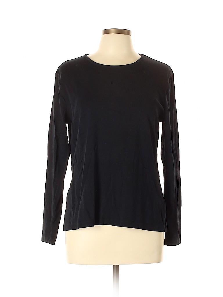 Croft & Barrow Women Long Sleeve T-Shirt Size L