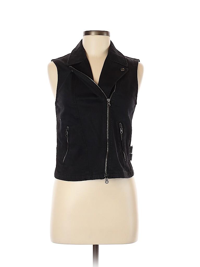 Club Monaco Women Denim Vest Size S (Petite)