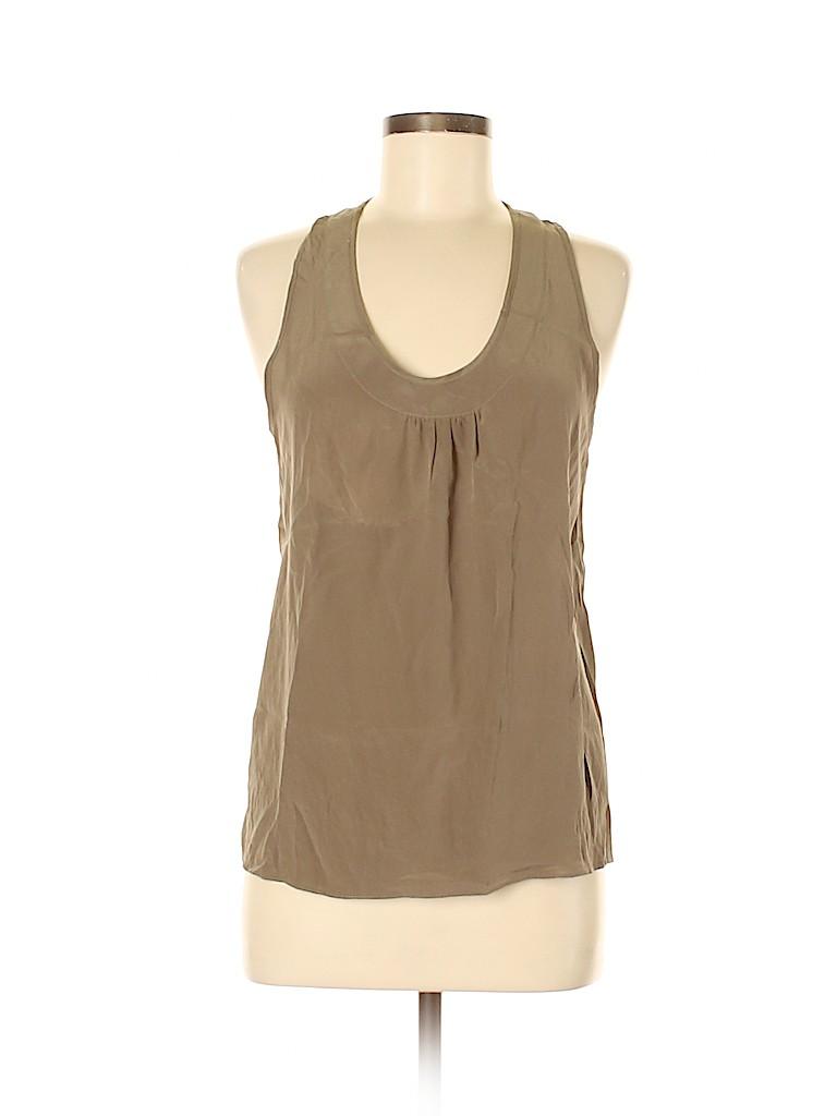 Annie Griffin Women Sleeveless Silk Top Size M