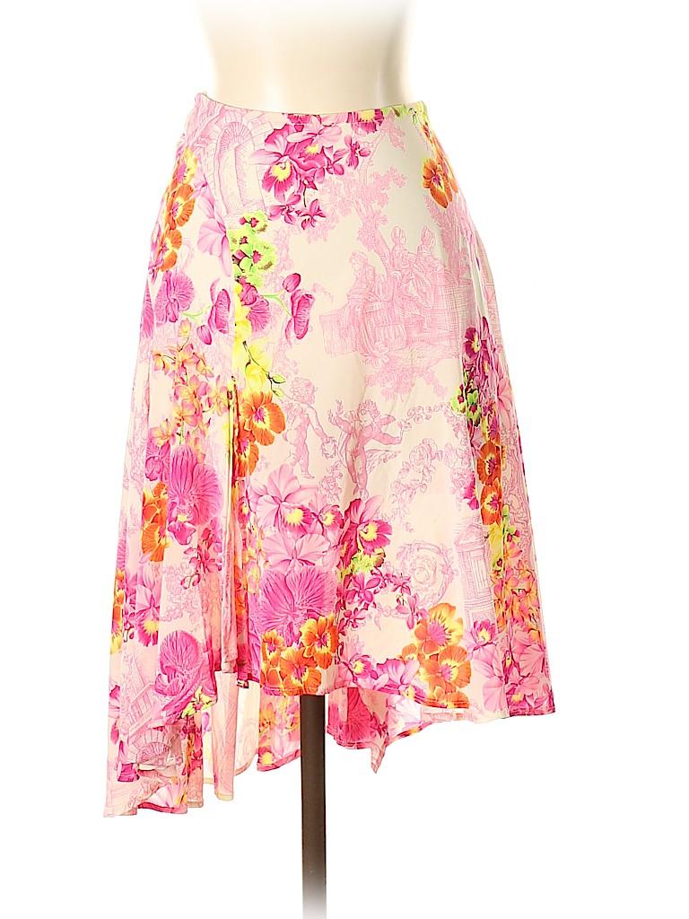 Versace Women Silk Skirt Size 38 (IT)
