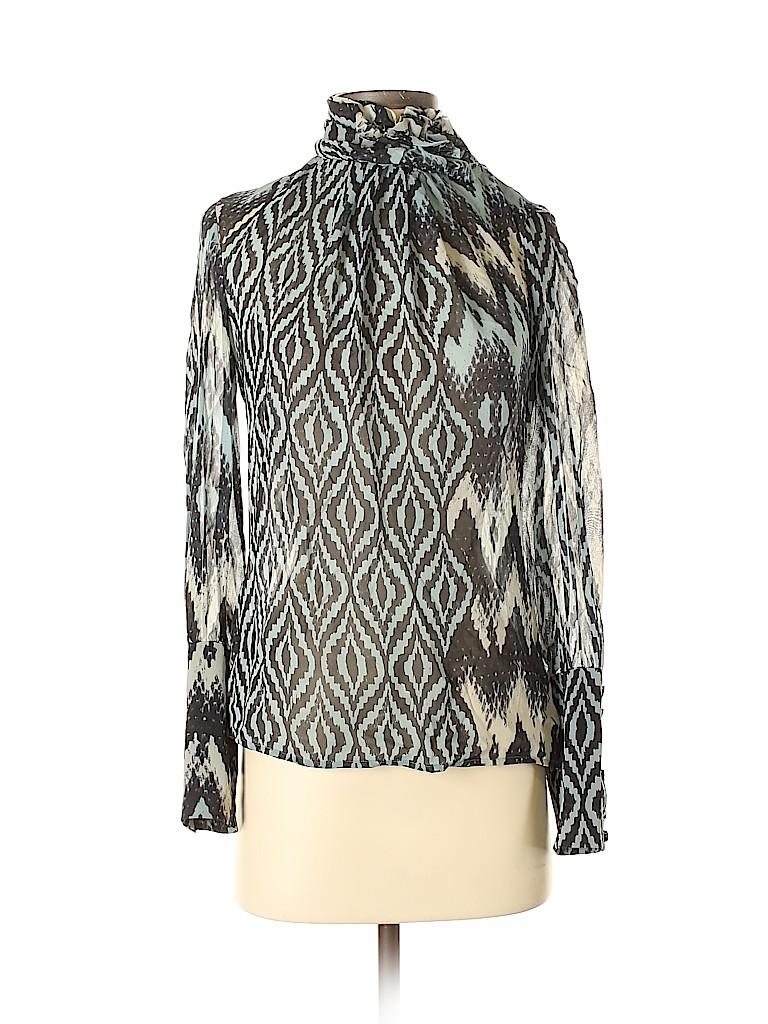 Etcetera Women Long Sleeve Silk Top Size 0