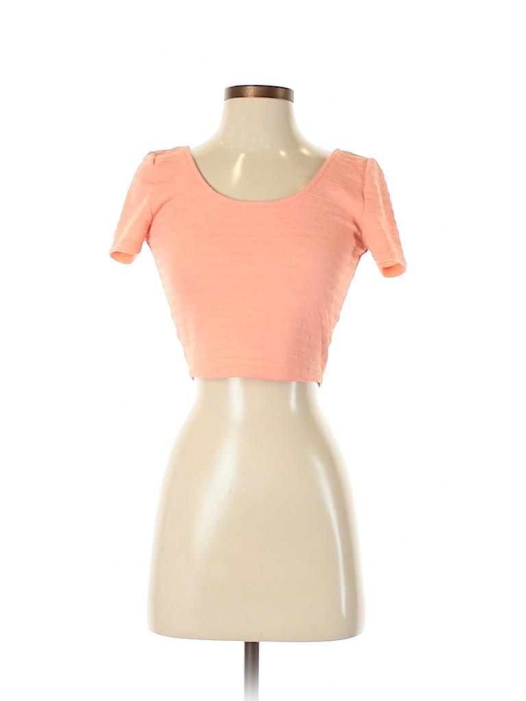 Material Girl Women Short Sleeve Top Size S