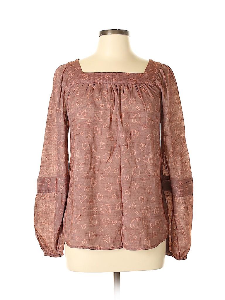 LC Lauren Conrad Women Long Sleeve Blouse Size L