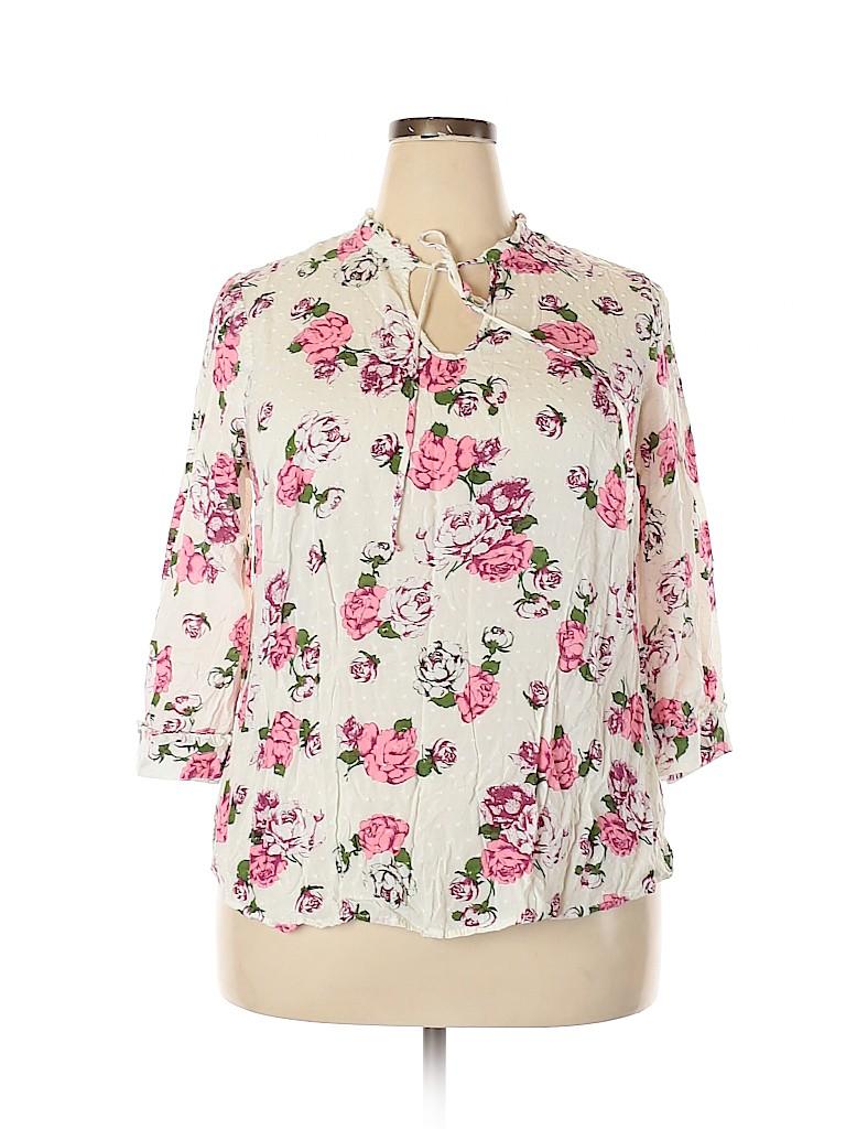 ModCloth Women 3/4 Sleeve Blouse Size 2X (Plus)