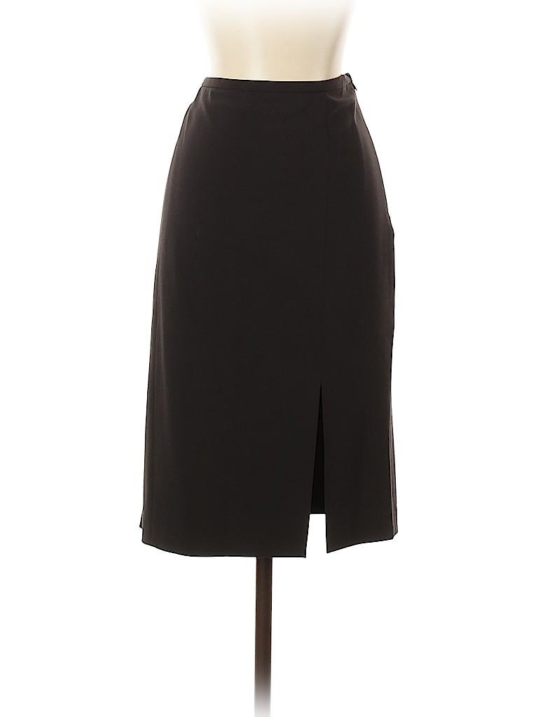 Armani Collezioni Women Wool Skirt Size 8