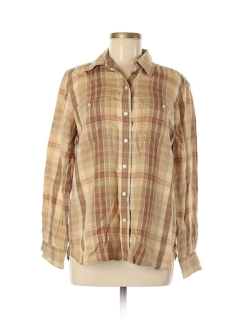 Lauren by Ralph Lauren Women Long Sleeve Button-Down Shirt Size M