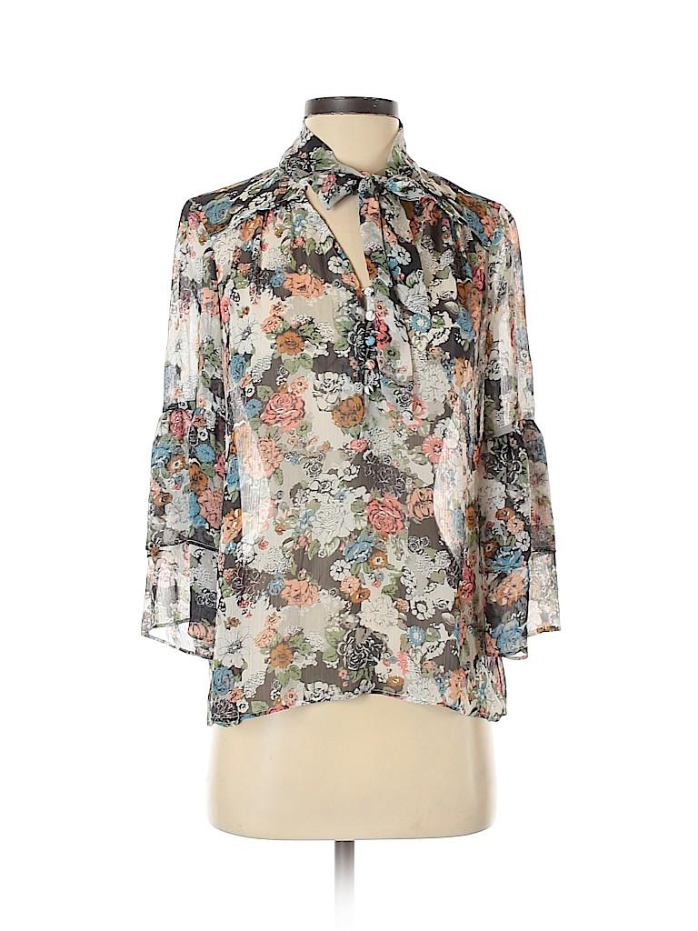 LC Lauren Conrad Women 3/4 Sleeve Blouse Size S