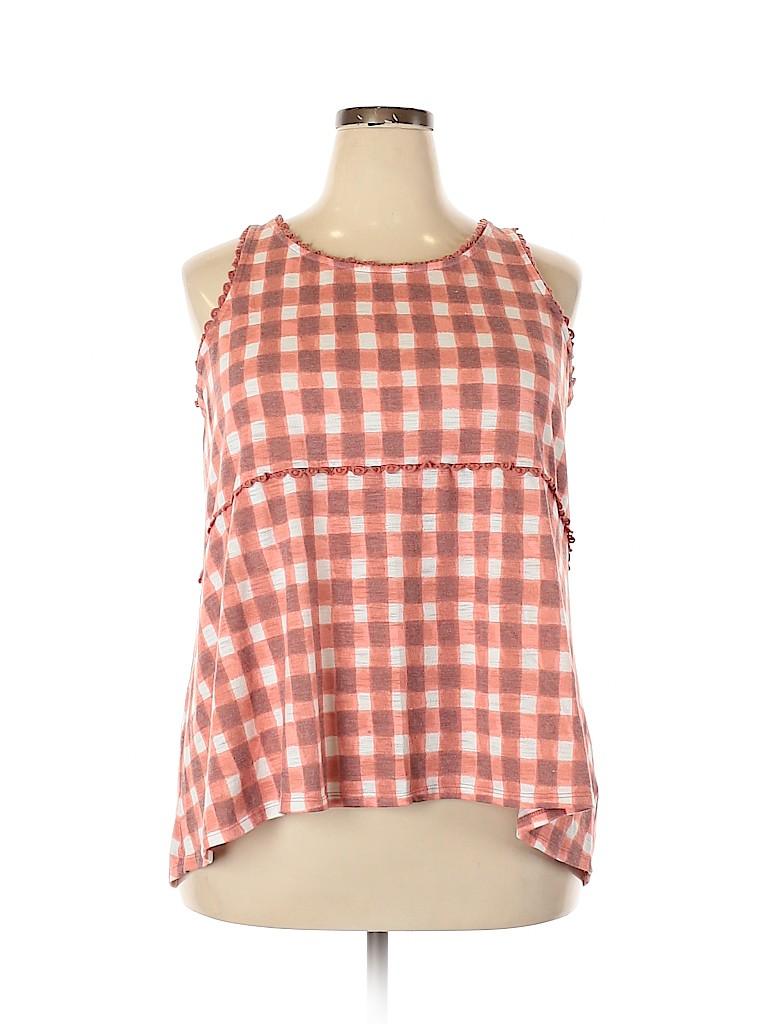 LC Lauren Conrad Women Sleeveless Blouse Size XXL