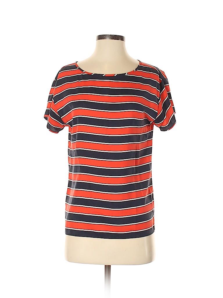 J. Crew Women Short Sleeve Silk Top Size XS