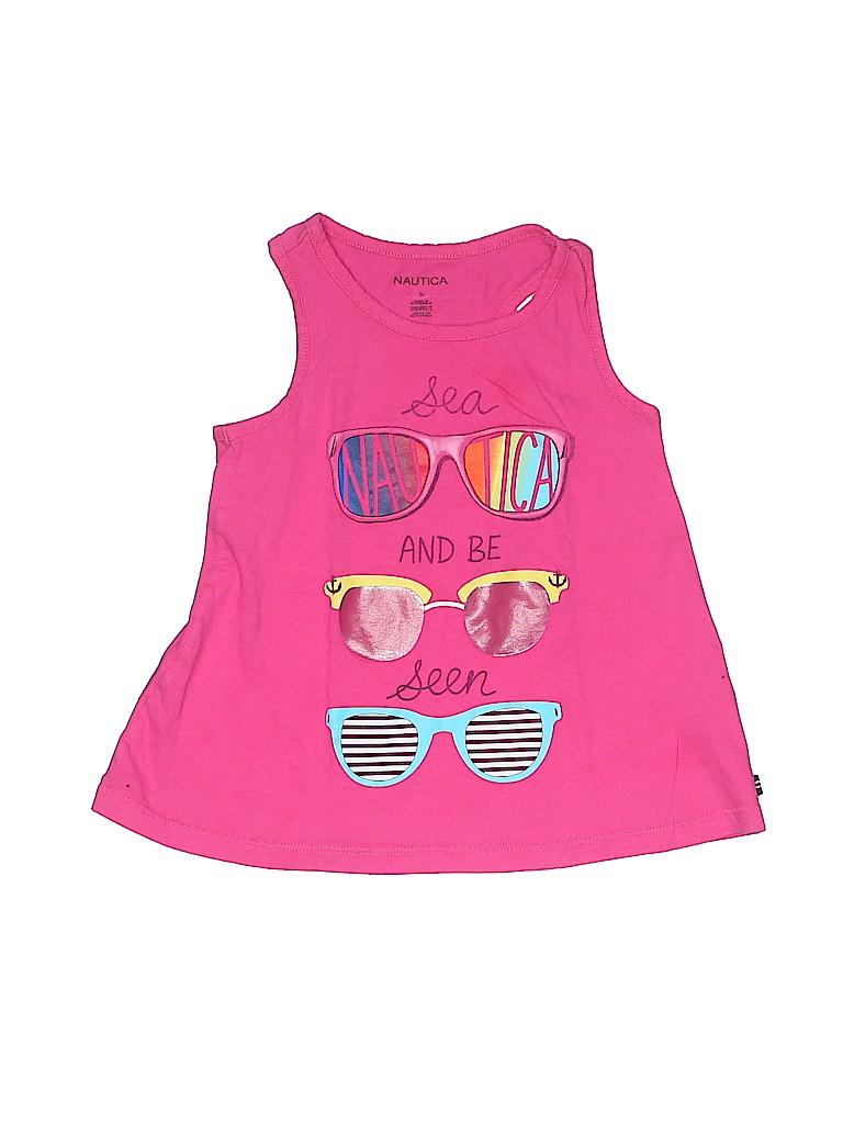 Nautica Girls Sleeveless T-Shirt Size 5