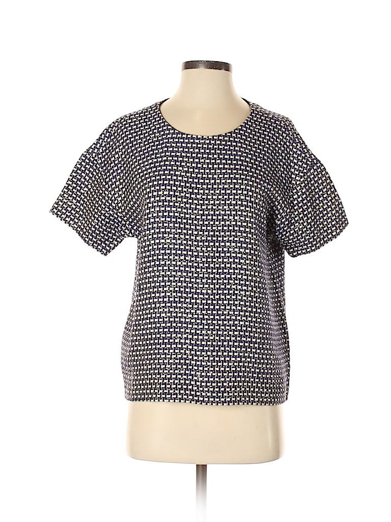 J. Crew Women Short Sleeve Silk Top Size 4