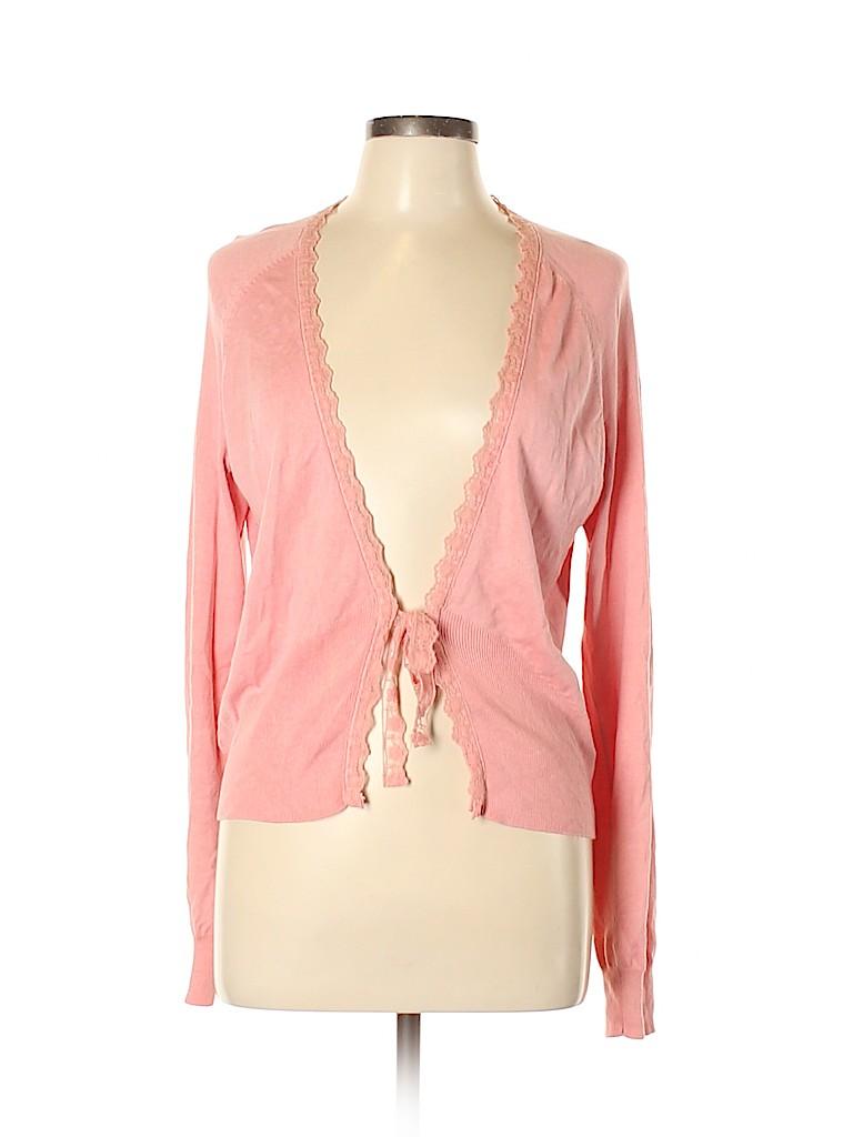 George Women Silk Cardigan Size L