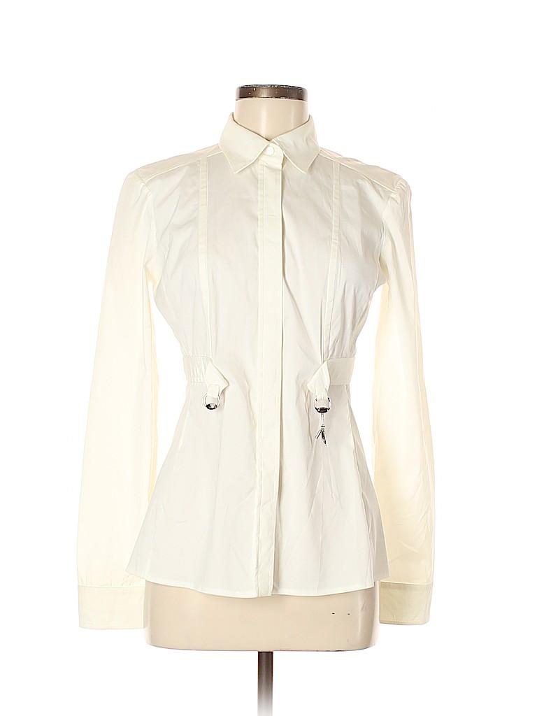 Gucci Women Long Sleeve Button-Down Shirt Size 42 (IT)