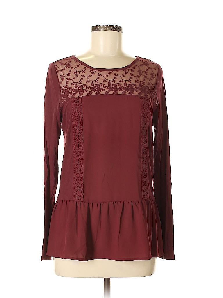 LC Lauren Conrad Women Long Sleeve Blouse Size S