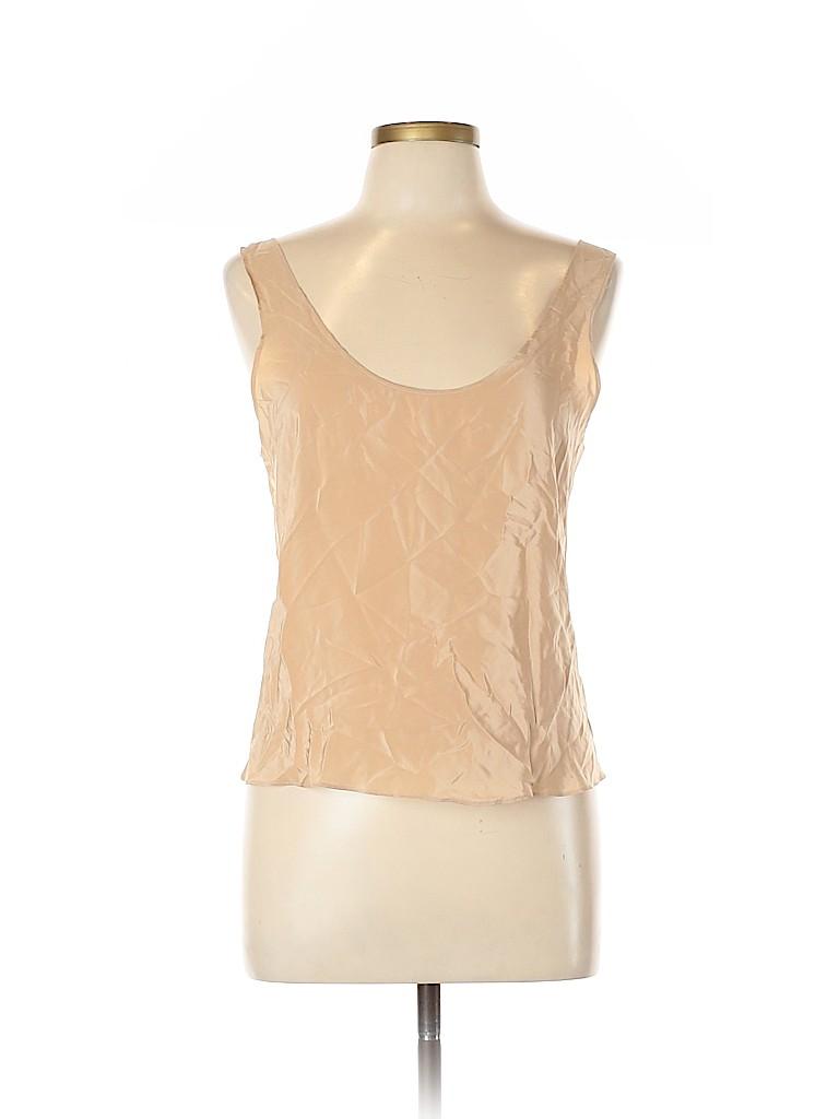 Paper Crown Women Sleeveless Silk Top Size L