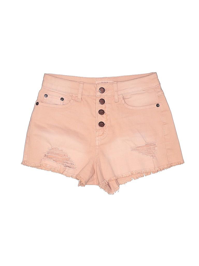 Sun & Shadow Women Denim Shorts 25 Waist