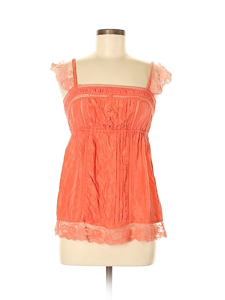 Flying Tomato Women Sleeveless Silk Top Size S