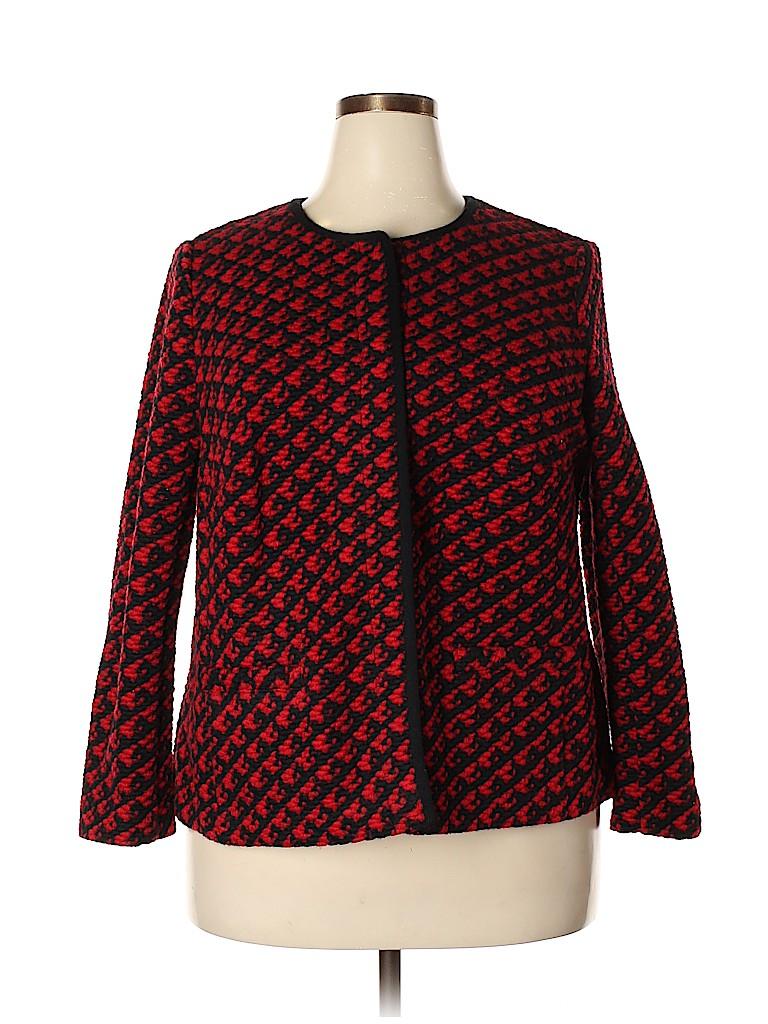 Talbots Women Wool Cardigan Size 2X (Plus)