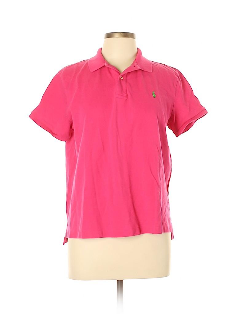 Polo by Ralph Lauren Women Short Sleeve Polo Size XL