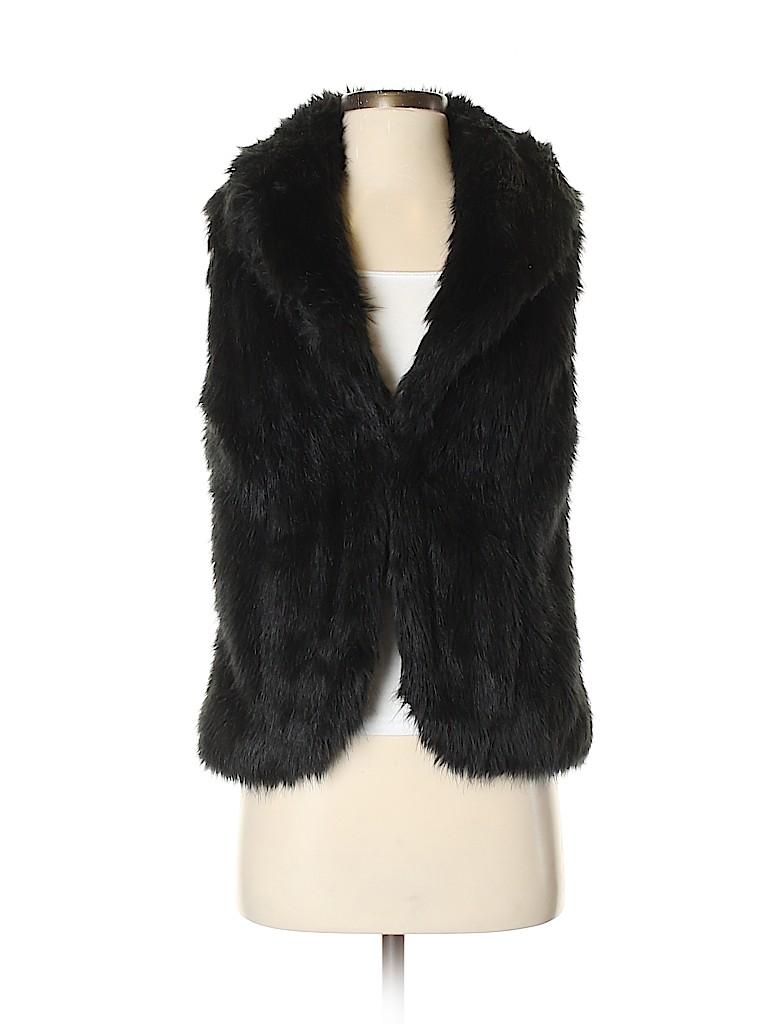Jones New York Signature Women Faux Fur Vest Size S
