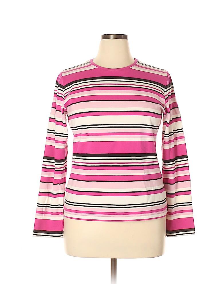 Croft & Barrow Women Long Sleeve T-Shirt Size XL