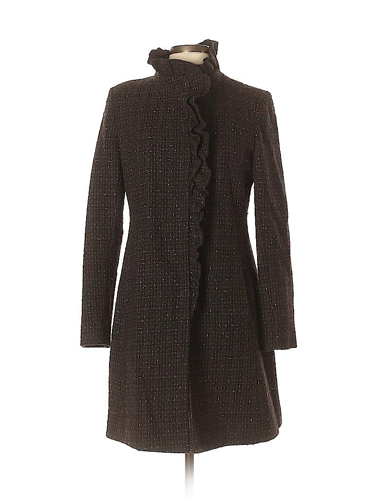 DKNY Women Wool Coat Size 12 (Petite)