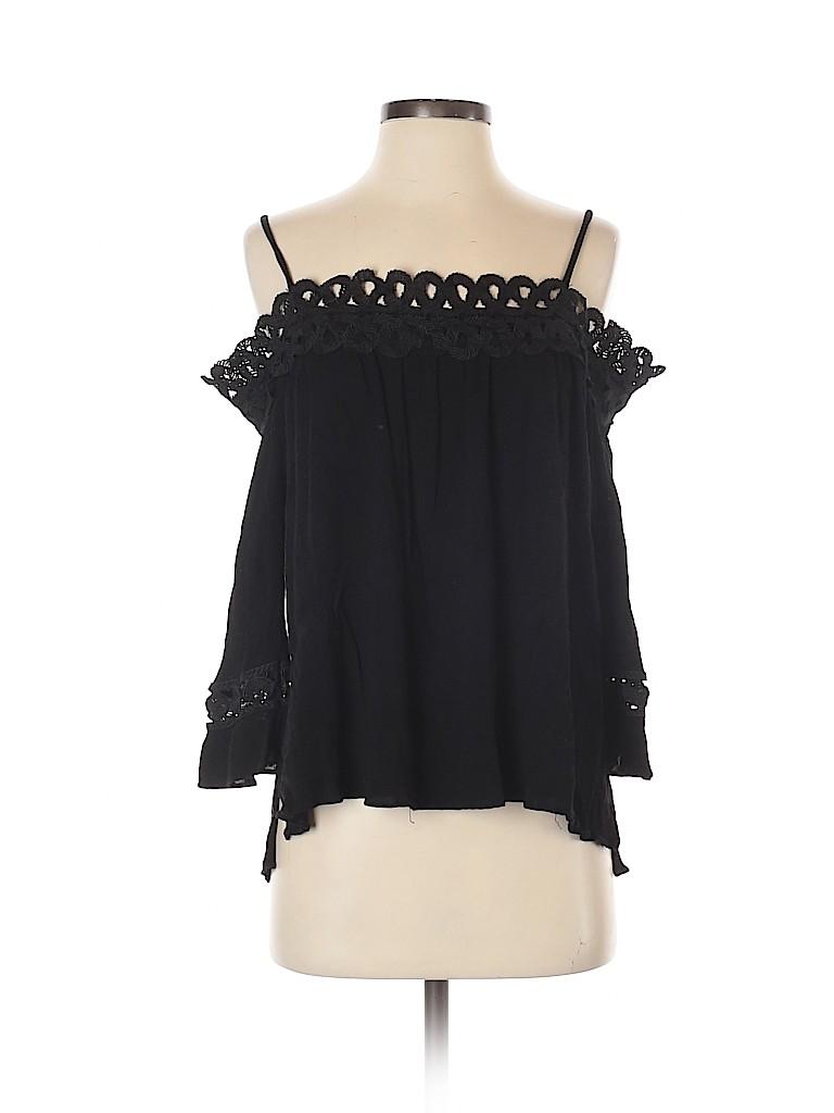Aqua Women 3/4 Sleeve Blouse Size S