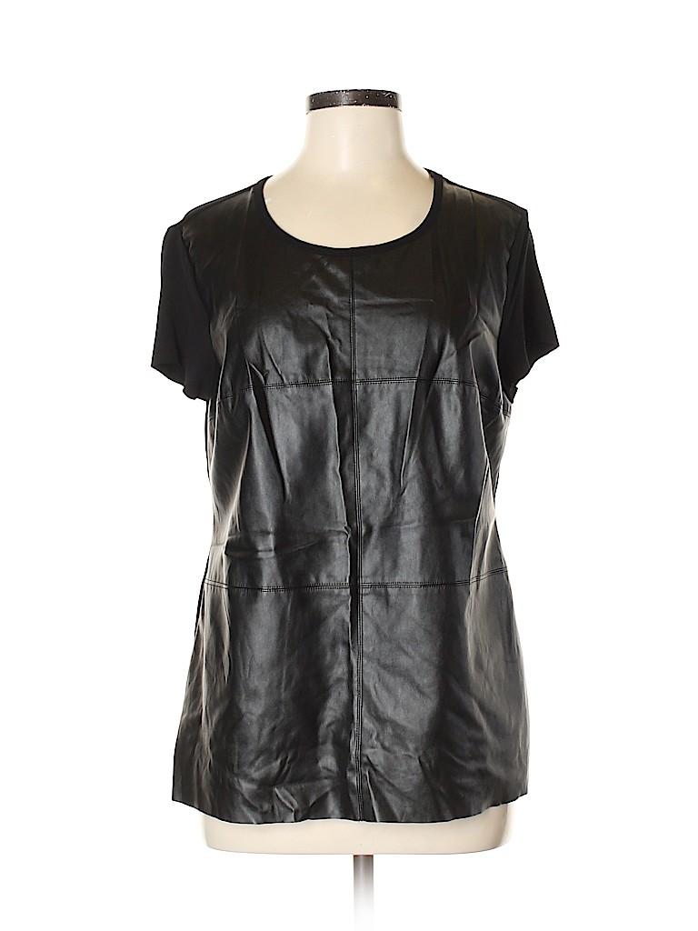 Vince Camuto Women Short Sleeve Blouse Size L