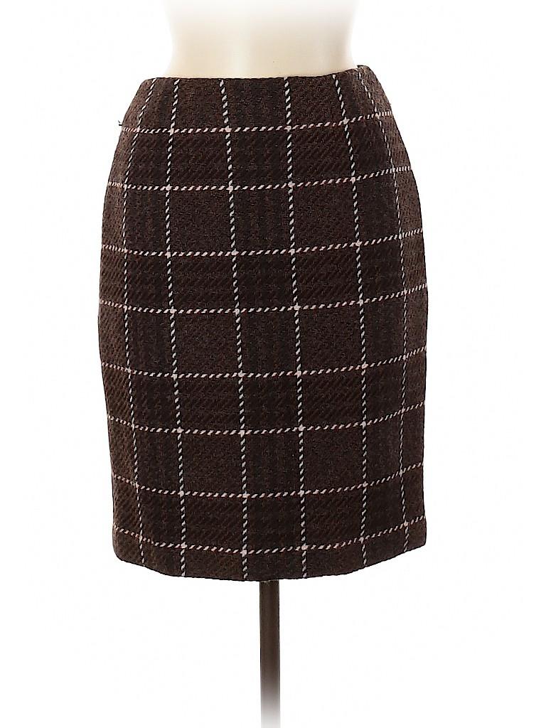 Ellen Tracy Women Wool Skirt Size 6 (Petite)