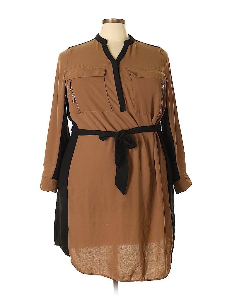 Lane Bryant Women Casual Dress Size 24 (Plus)