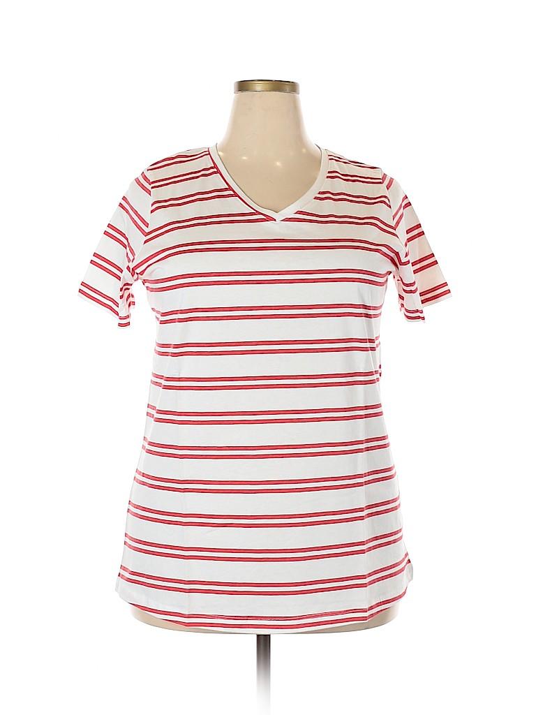 Woman Within Women Short Sleeve T-Shirt Size 18 (L) (Plus)