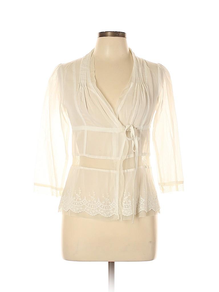Free People Women 3/4 Sleeve Blouse Size 4