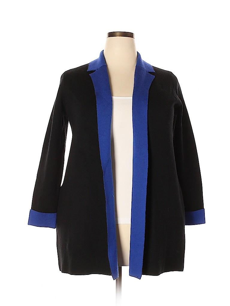 Talbots Women Wool Cardigan Size 1X (Plus)