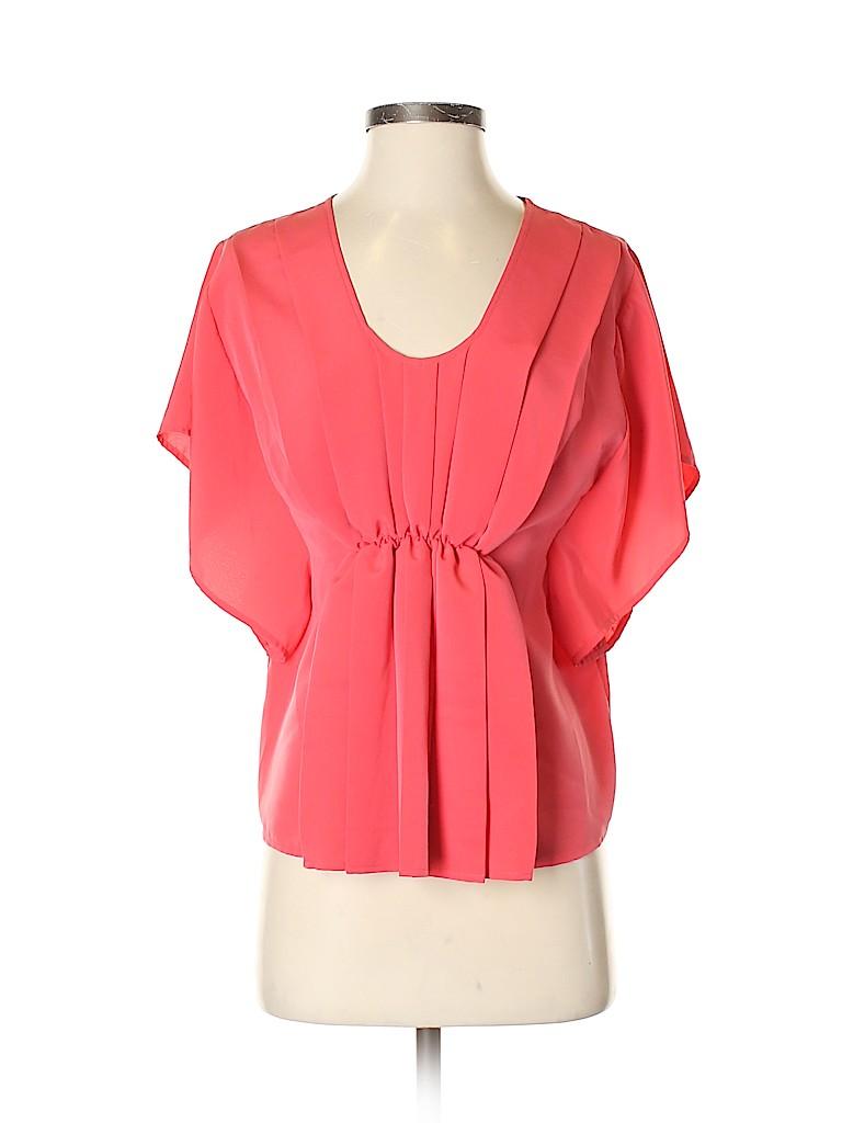 Aqua Women Short Sleeve Blouse Size XS