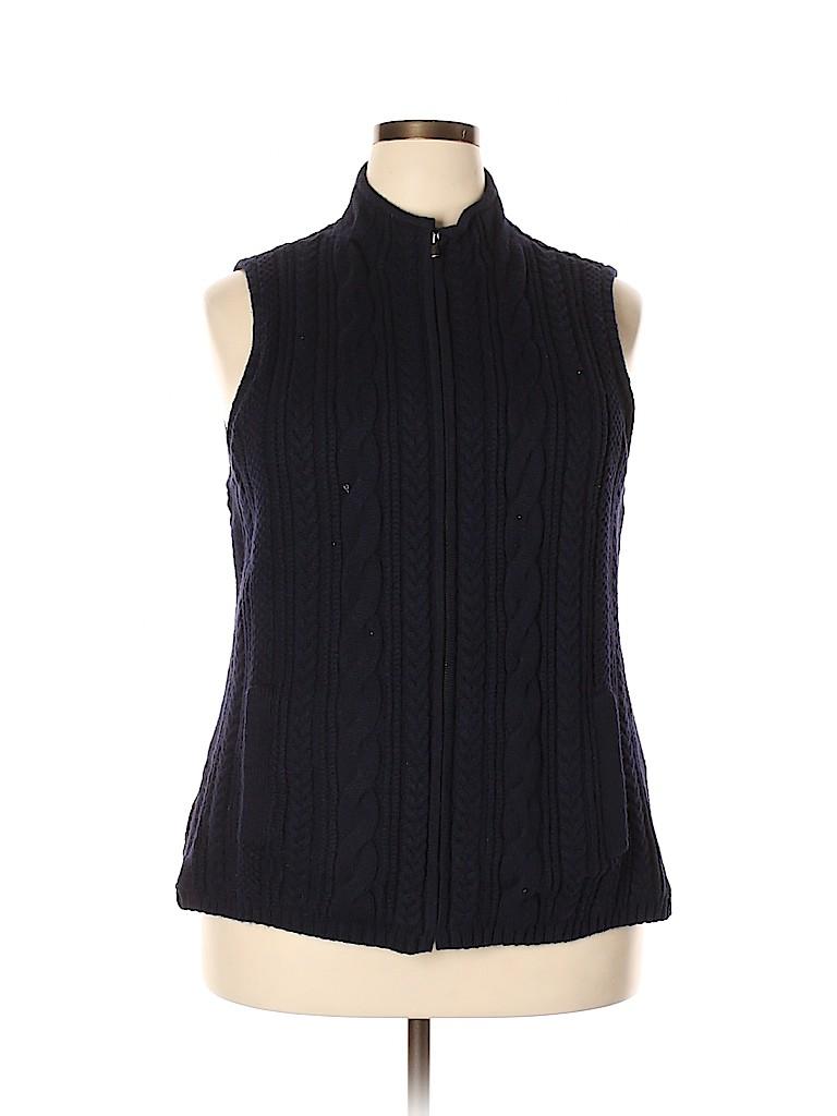 Talbots Women Sweater Vest Size 2X (Plus)