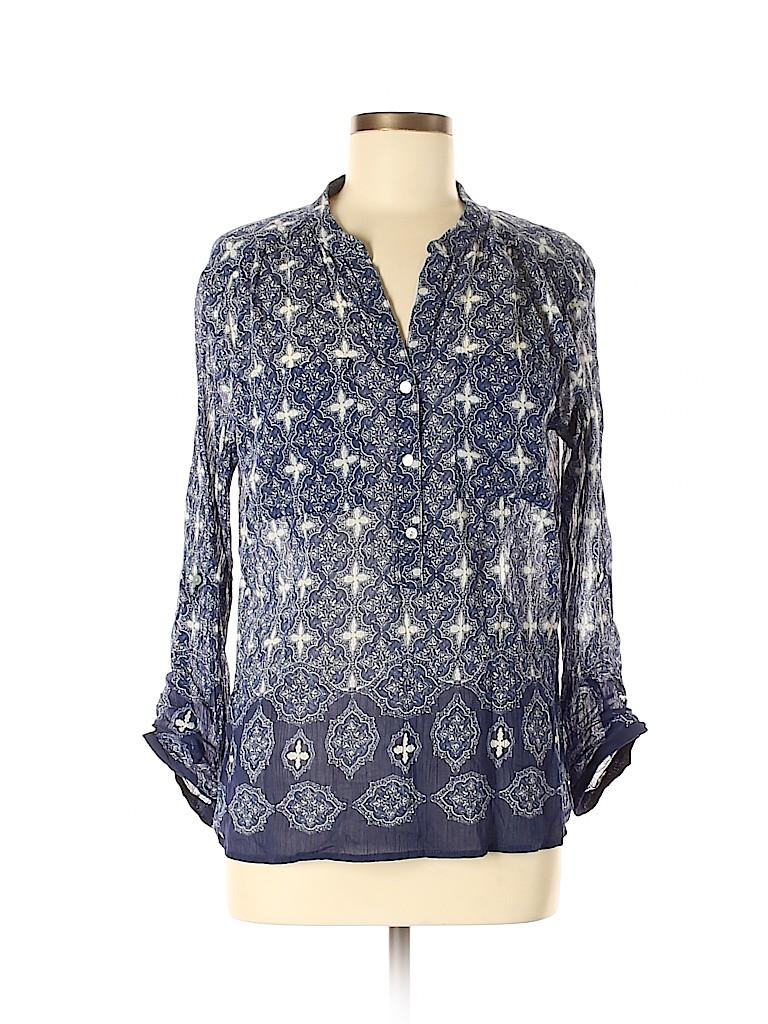 Joe Fresh Women Long Sleeve Button-Down Shirt Size M