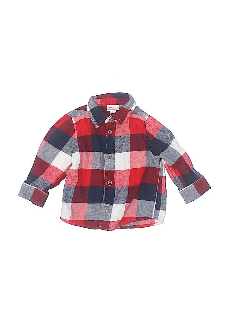 Jumping Beans Boys Short Sleeve Button-Down Shirt Size 12 mo