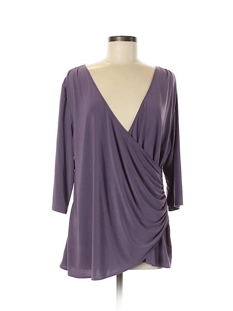 Kiyonna Women 3/4 Sleeve Top Size 1 (Plus)
