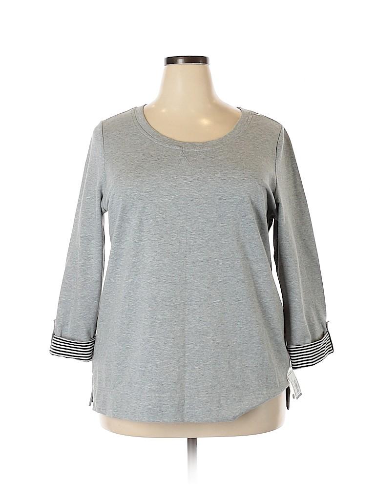 Karen Scott Women Sweatshirt Size 1X (Plus)