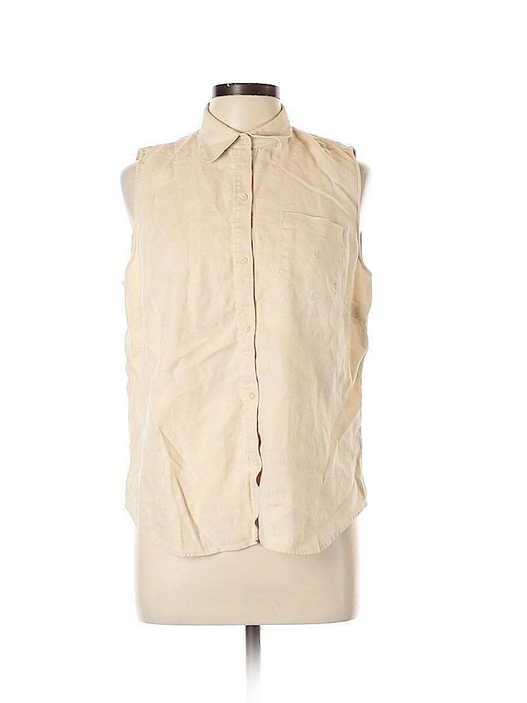 Lauren by Ralph Lauren Women Sleeveless Button-Down Shirt Size L