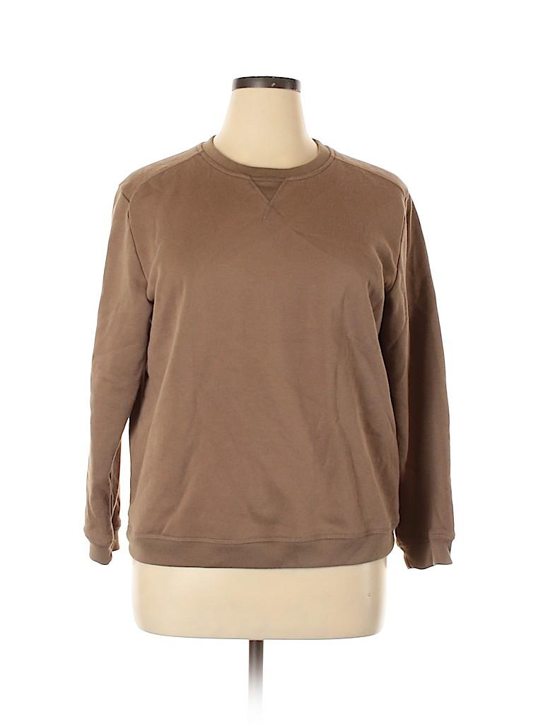Karen Scott Women Sweatshirt Size XL