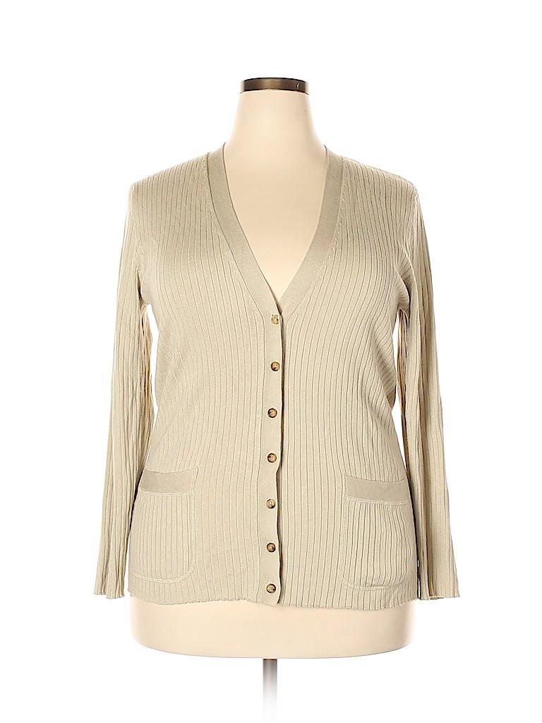 MICHAEL Michael Kors Women Cardigan Size 1X (Plus)