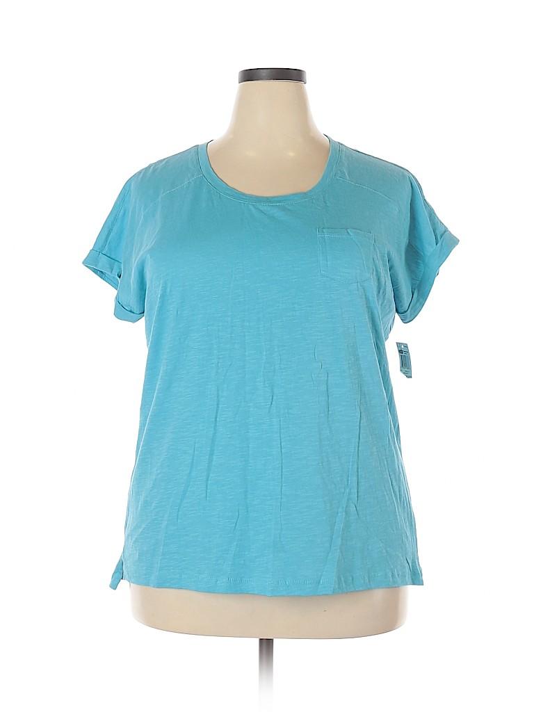 Style&Co Women Short Sleeve T-Shirt Size 1X (Plus)