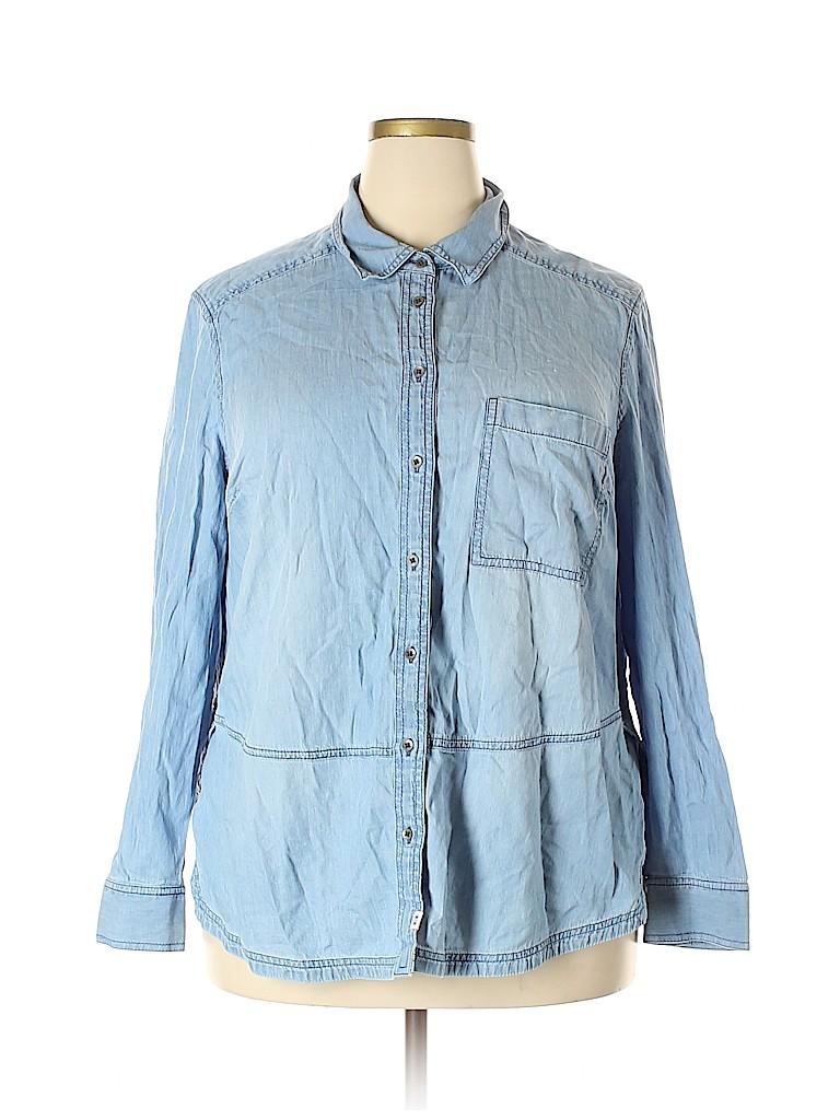 Melrose and Market Women Long Sleeve Button-Down Shirt Size 1X (Plus)