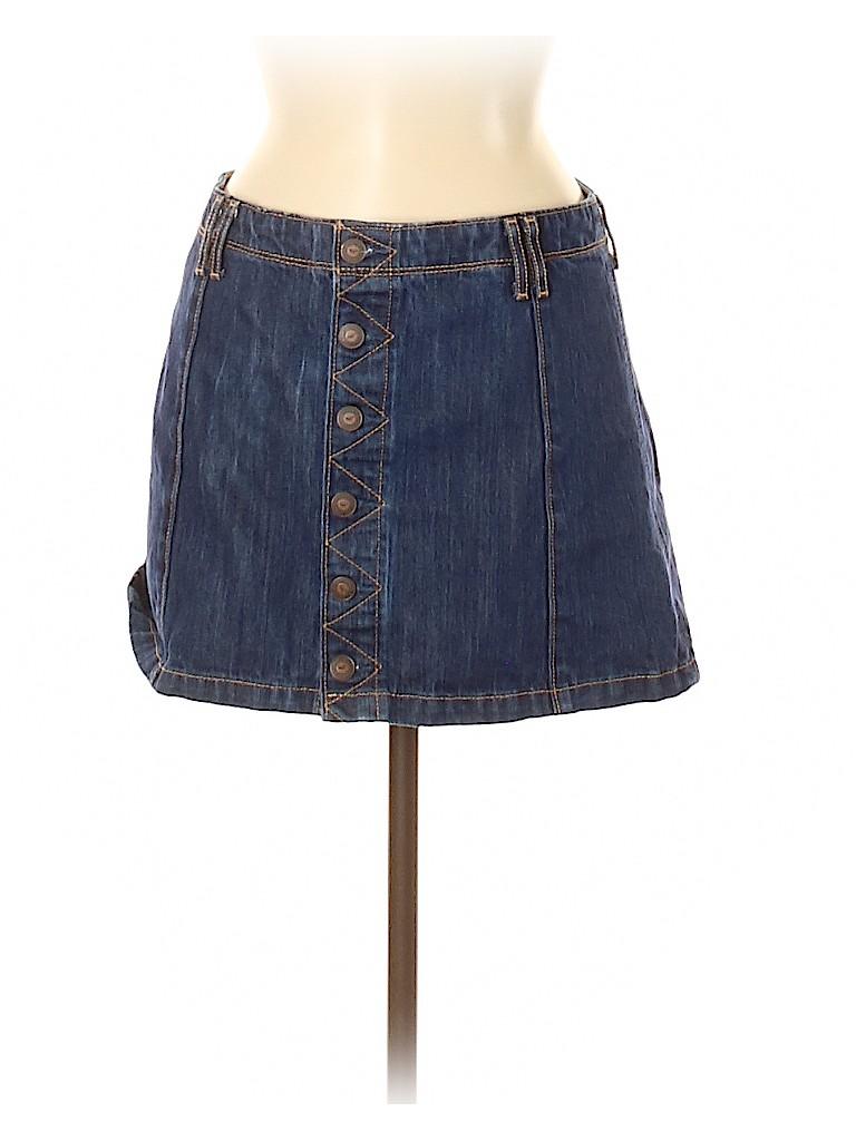 Hollister Women Denim Skirt Size 5