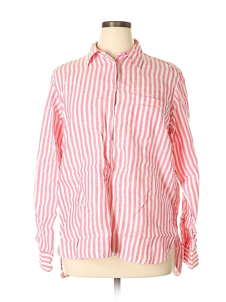 Lauren by Ralph Lauren Women Long Sleeve Button-Down Shirt Size XL