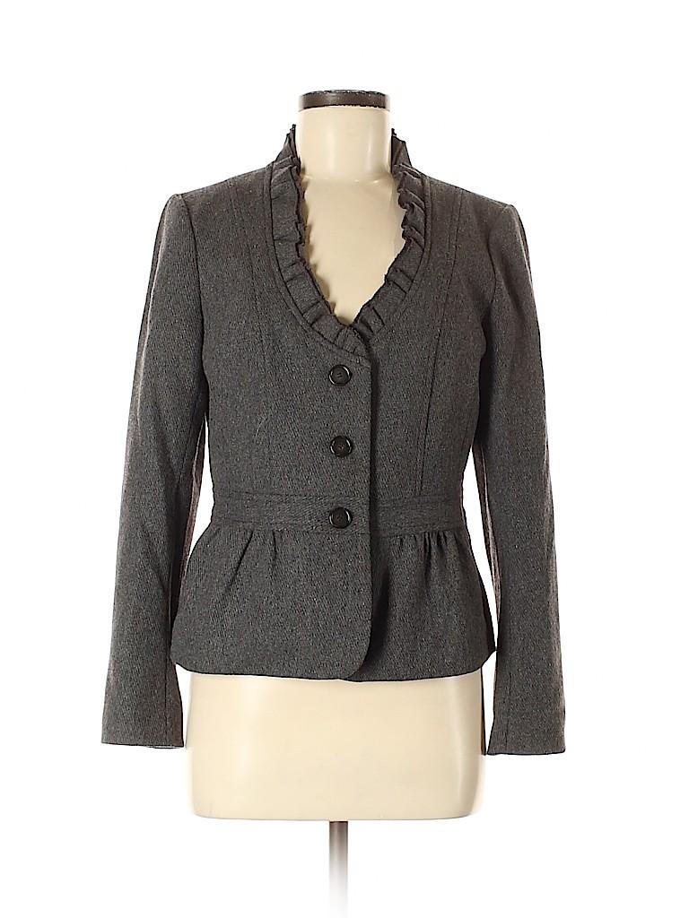 Ann Taylor LOFT Women Wool Blazer Size 10 (Petite)
