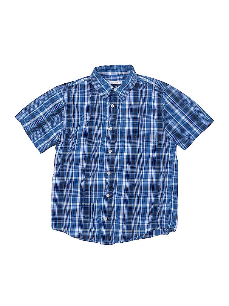 Old Navy Boys Short Sleeve Button-Down Shirt Size L (Kids)