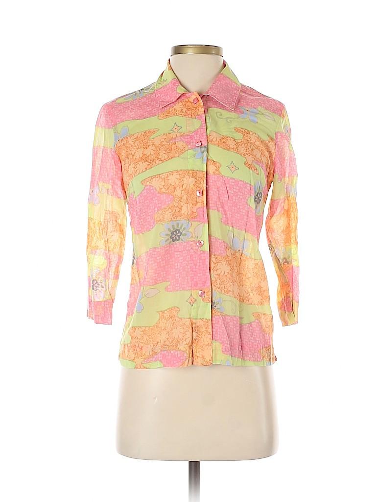 Sigrid Olsen Sport Women Long Sleeve Button-Down Shirt Size XS